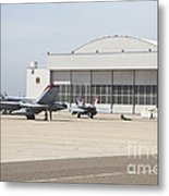 Fa-18 Hornets On The Flight Line Metal Print