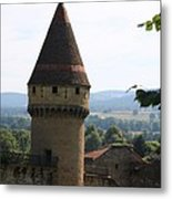 Fabry Tower - Cluny - Burgundy Metal Print