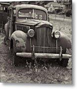 Fabulous Vintage Car Black And White Metal Print