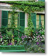 Facade Of Claude Monets House, Giverny Metal Print