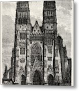 Facade Of The Metropolitan Church Of Tours Metal Print