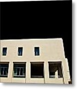 Facade Windows Of Office Building On Black Sky Metal Print