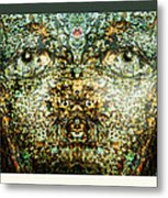 Face Bark Within Metal Print
