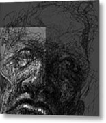 Face In Frame Metal Print