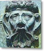 Face In The Cannon Metal Print