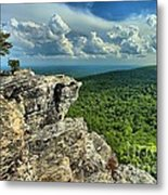 Face In The Cliff Metal Print