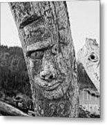 Face In The Drift Metal Print