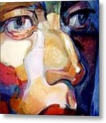 Face Of A Woman Metal Print