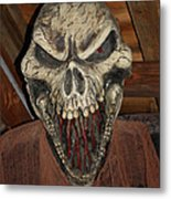 Face Of Death Metal Print