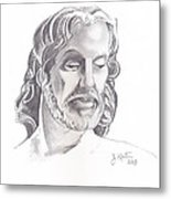Face Of Jesus Metal Print by John Keaton