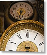 Face Of Time Metal Print by Tom Gari Gallery-Three-Photography