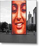 Face On Michigan Metal Print