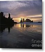 Face Rock Beach Bandon Oregon Metal Print