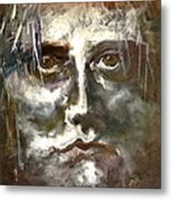 Face Series 1 Metal Print by Michelle Dommer