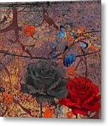 Face The Thorns  Metal Print