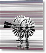 Face To The Wind Metal Print