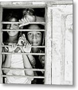 Faces At The Window Metal Print