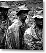 Faces In A Breadline Metal Print