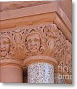 Faces In Stone Metal Print
