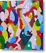 Faces In The Crowd Metal Print
