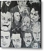 faces of Gary Oldman Metal Print