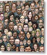 Faces Of Humanity Metal Print