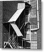 Factory Stairs Metal Print