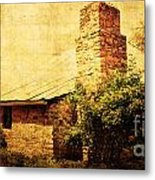 Faded Building Metal Print