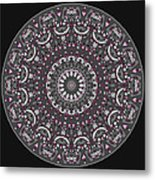 Faded Cedar No. 1 Mandala Metal Print