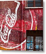 Faded Coca Cola Mural 1 Metal Print