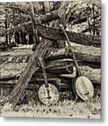 Faded Country Time Banjos Metal Print