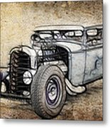 Faded Ford Coupe Metal Print