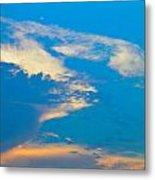 Fading Clouds Metal Print