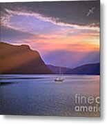 Fading Of The Light Metal Print by Edmund Nagele