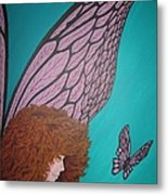 Faerie And Butterfly Metal Print