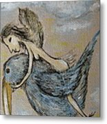Faery And The Stork - Prints Metal Print