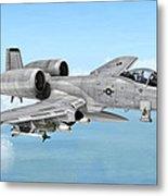 Fairchild A-10 Thunderbolt Metal Print