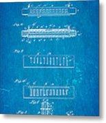 Fairfield Harmonica Patent Art 1897 Blueprint Metal Print