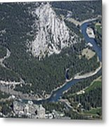 Fairmont Banff Springs Hotel And Golf Course Metal Print