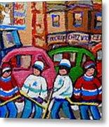 Fairmount Bagel Street Hockey Game Metal Print