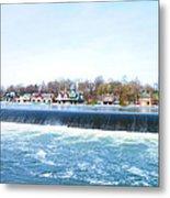 Fairmount Dam And Boathouse Row In Philadelphia Metal Print