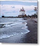 Fairport Harbor Breakwater Lighthouse Metal Print