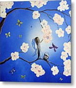 Fairy Blossoms By Shawna Erback Metal Print