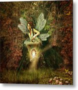 Fairy Forest Lake Metal Print