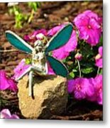 Fairy Garden Metal Print by Andrea Dale