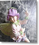 Fairy Hiding From The Light Metal Print