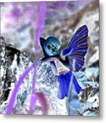 Fairy In The Woods Surreal Metal Print