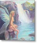 Fairy Of The Falls Morning Bath Metal Print by Gwen Carroll