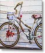 Fairy Tale Bike Flying Machine Metal Print