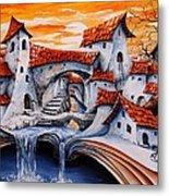 Fairy Tale City - Magic Stream Metal Print